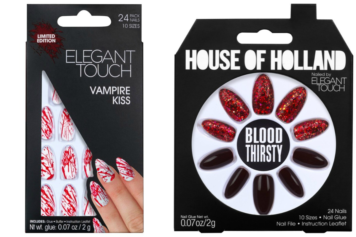 Elegant Touch Halloween Nails Vampire Kiss and Blood Thirsty