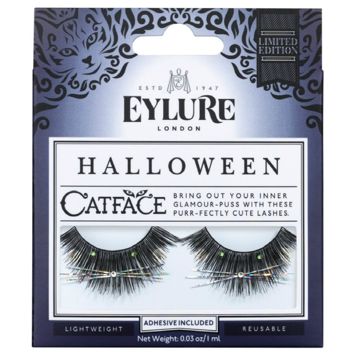 Eylure Halloween Cat Face False Eyelashes